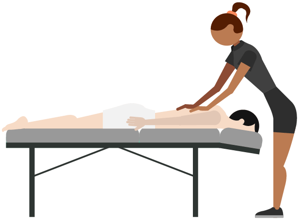 single massage in any massage technique