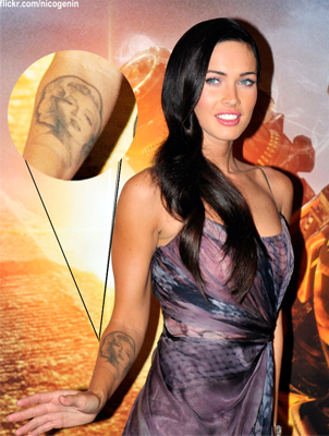 megan fox tattoos removed. Megan Fox#39;s forearm tattoo—a