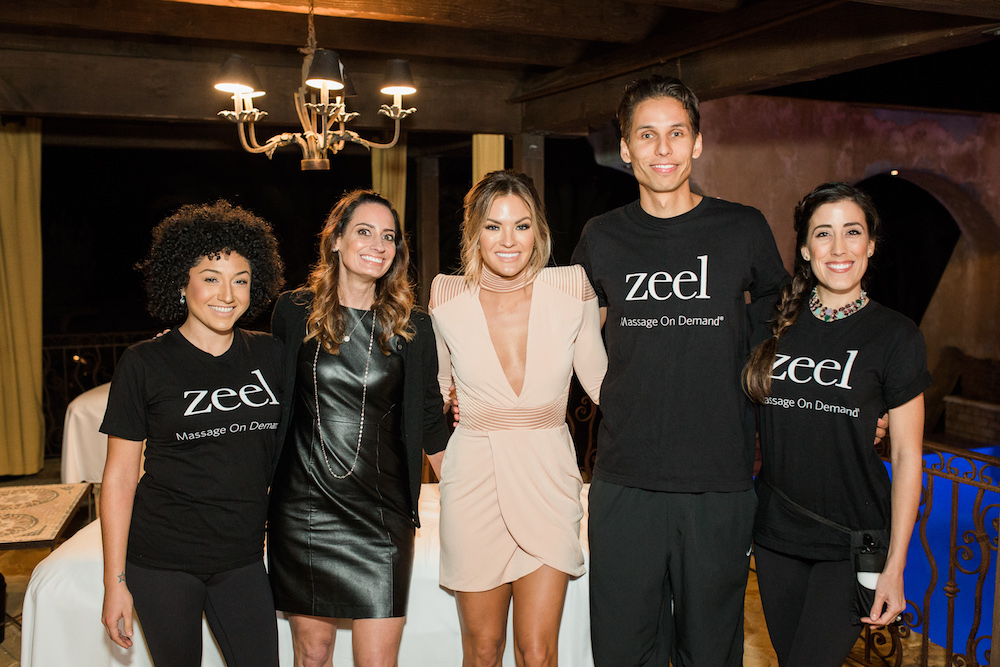 Zeel Massage Therapists Keila, Jacob, and Nuna along with Zeel Chief Marketing Officer Cynthia Irons, and Becca Tilley