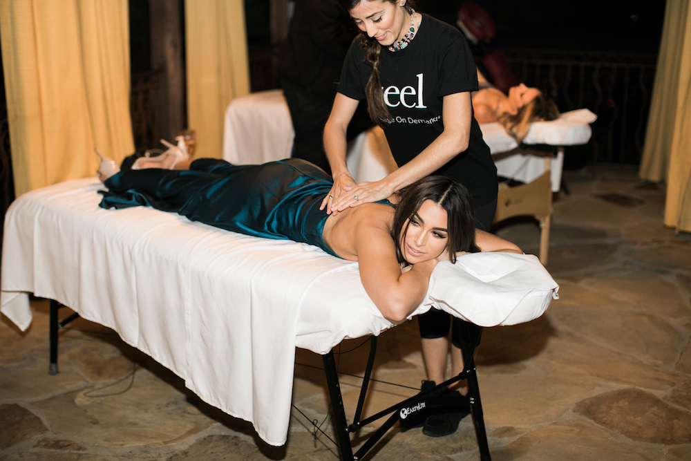The Bachelor and Bachelor in Paradise Alum Ashley Iaconetti, enjoying a Zeel Massage