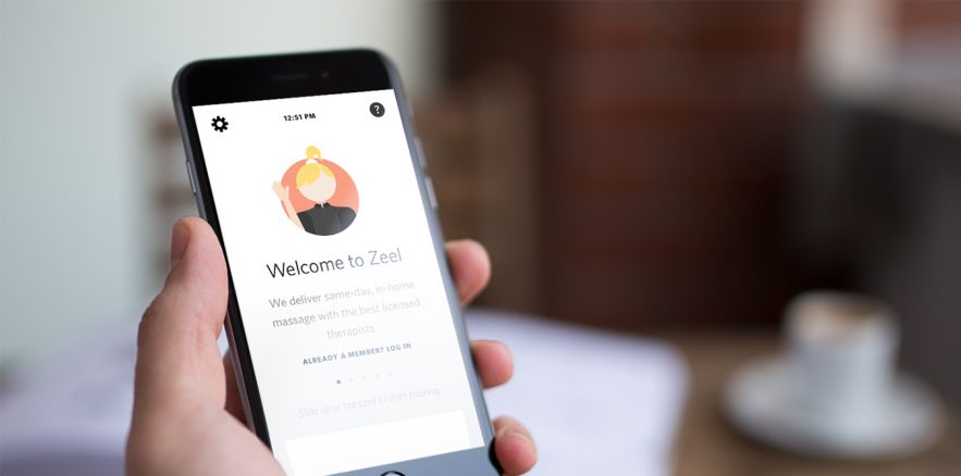 Zeel, a massage on-demand app that brings the relaxation of a spa to your home.