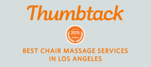 Thumbtack awards Zeel with Best Chair Massage Services in Los Angeles 2015