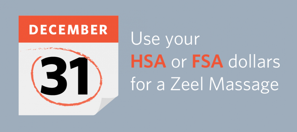 Use your HSA or FSA dollars for a Zeel Massage