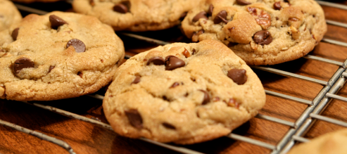 Freshly baked chocolate chip cookies are a brilliant way to commit a small act of kindness!