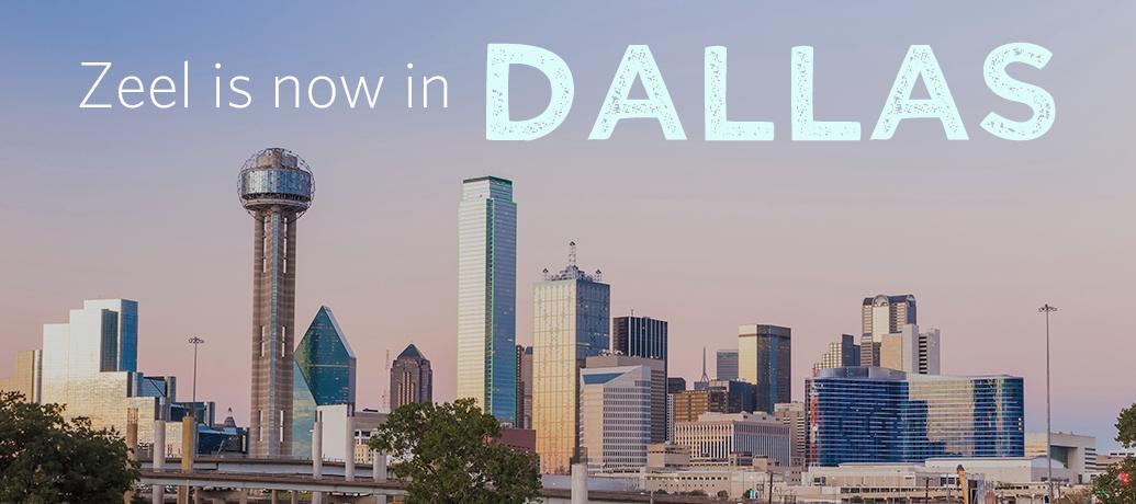 Zeel is now in Dallas, Texas.
