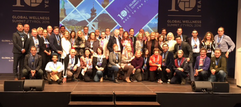 Zeel Spa Staffing - a diverse group gathers at the Global Wellness Summit in Tirol, Austria