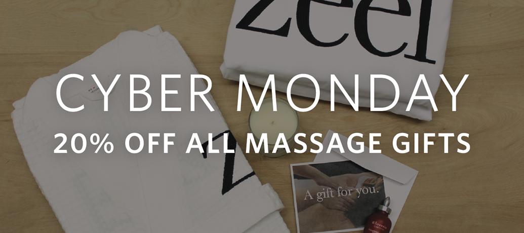 Zeel Massage Cyber Monday Deal 2016