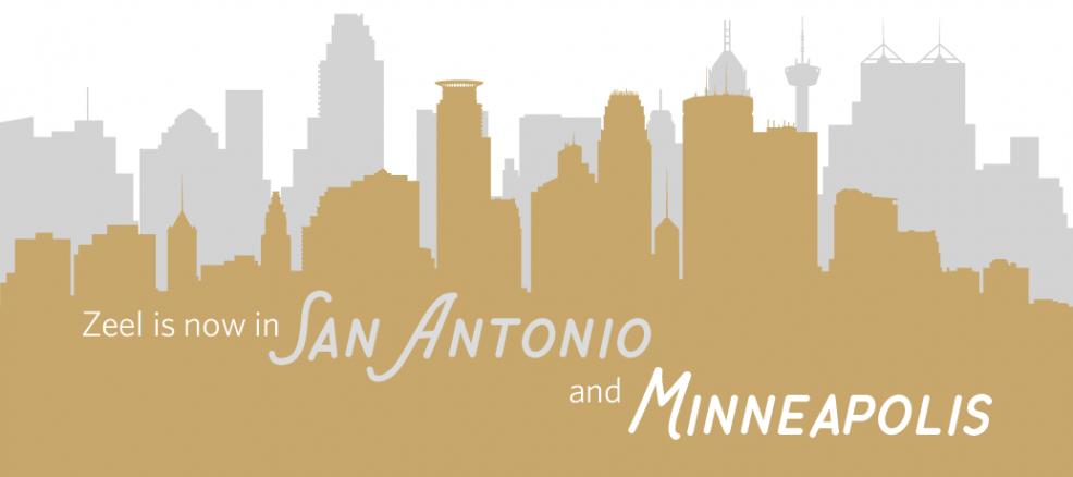 Zeel is now in San Antonio and Minneapolis