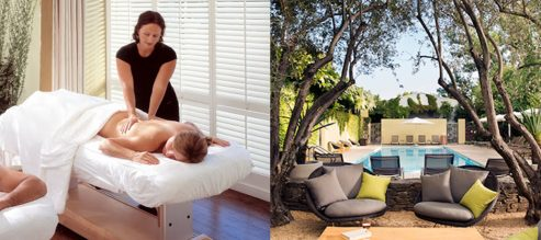 Massage tble at Sonoma County Spa Hotel Healdsburg