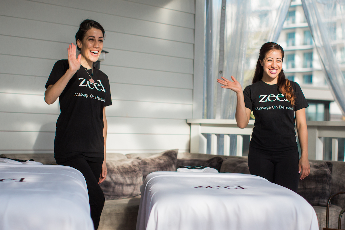 Zeel Massage Therapists and tables