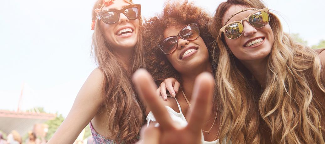 Three women at Coachella