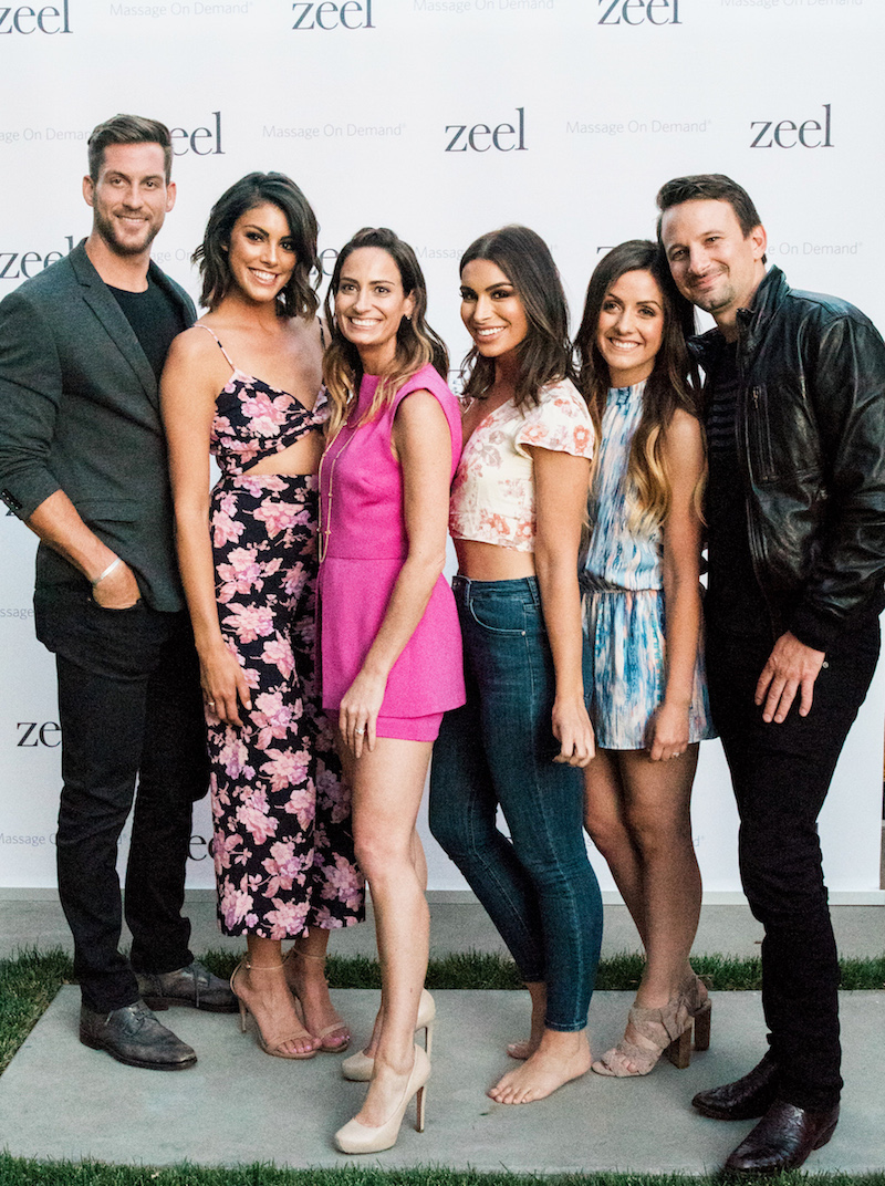 Bachelor contestants and Zeel Massage at spa party