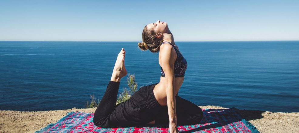 Yoga by the beach in San Francisco Bay Area