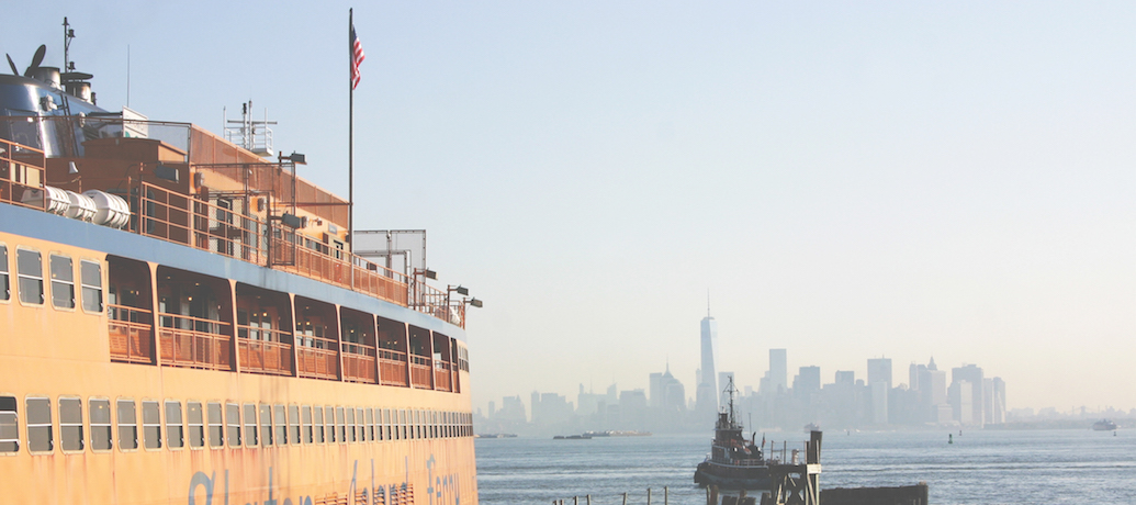 The Staten Island Ferry in New York, NY