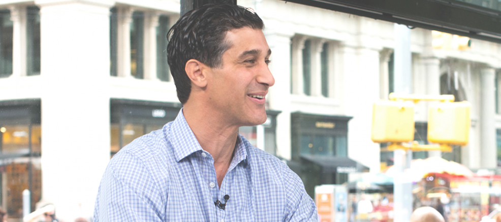 Zeel CEO Samer Hamadeh chats with Cheddar TV in the Flatiron Building