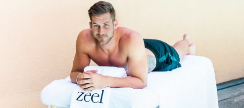 Bachelor Nation's Chase McNary on getting a sports massage after his workout