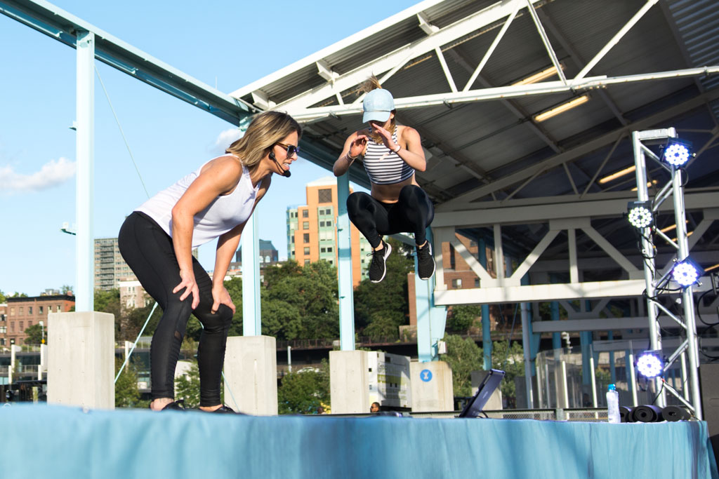 Celebrity guest trainer Jillian Michaels at the Tone It Up Tour