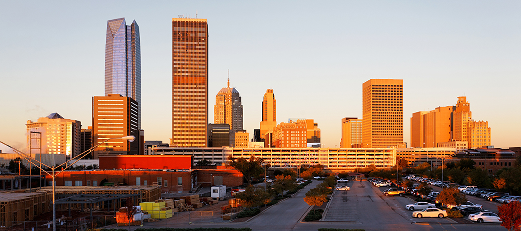 Oklahoma City at sunrise