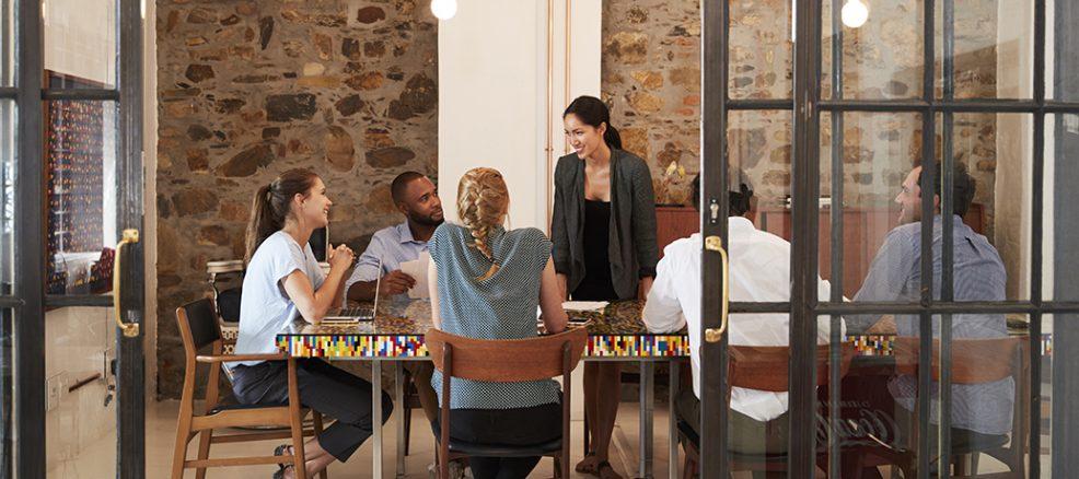 Employee appreciation day team meeting