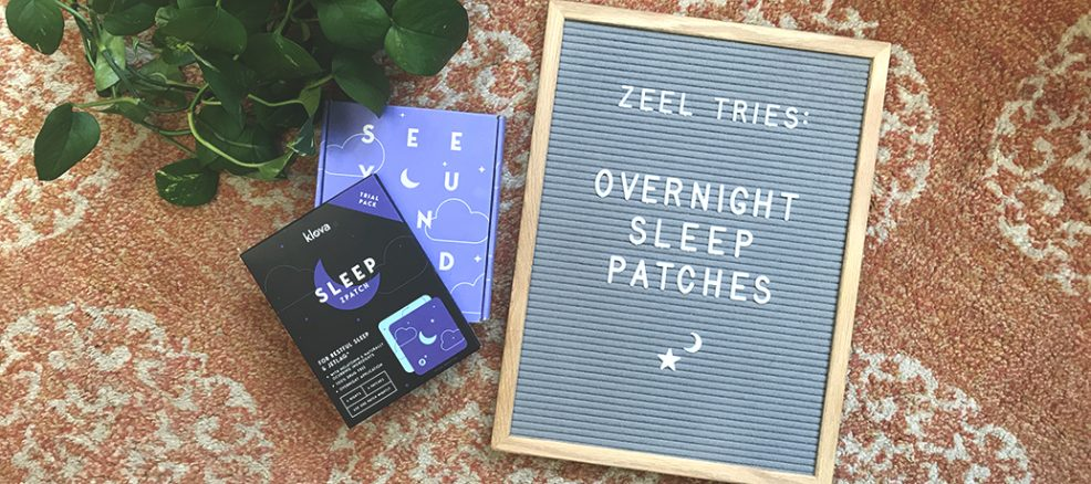 Zeel tries Klova sleeping patch