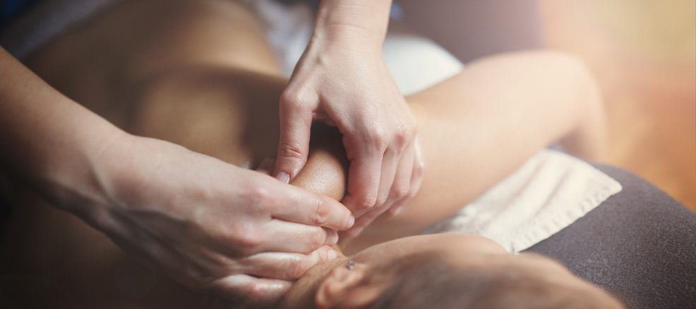 woman getting a therapeutic massage