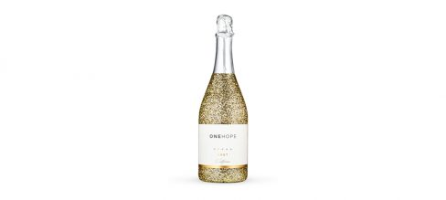 Corporate Wellness Gifts For Co-Workers And Employees One Hope Wine Glitter Gold Sparkling Brut copy